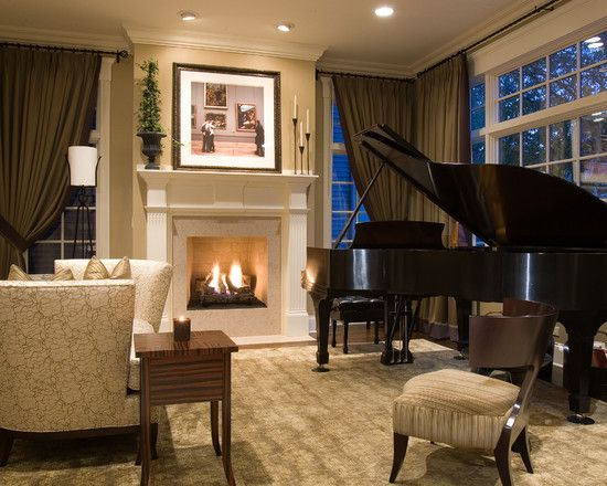 extraordinary living room piano idea | Nice LR combination. Of course, everything looks great ...