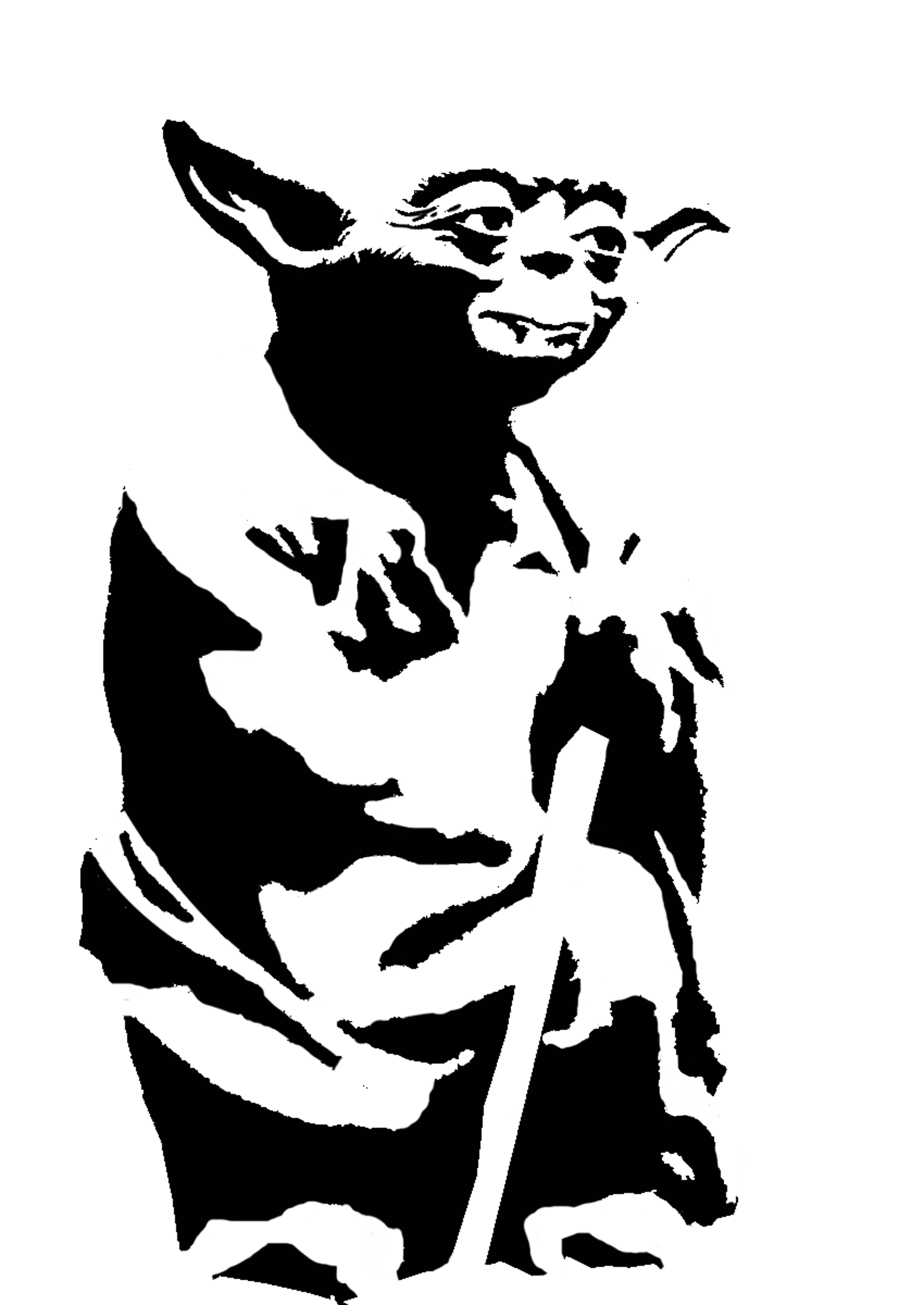 Line Art Yoda : Yoda stencil template templates pinterest