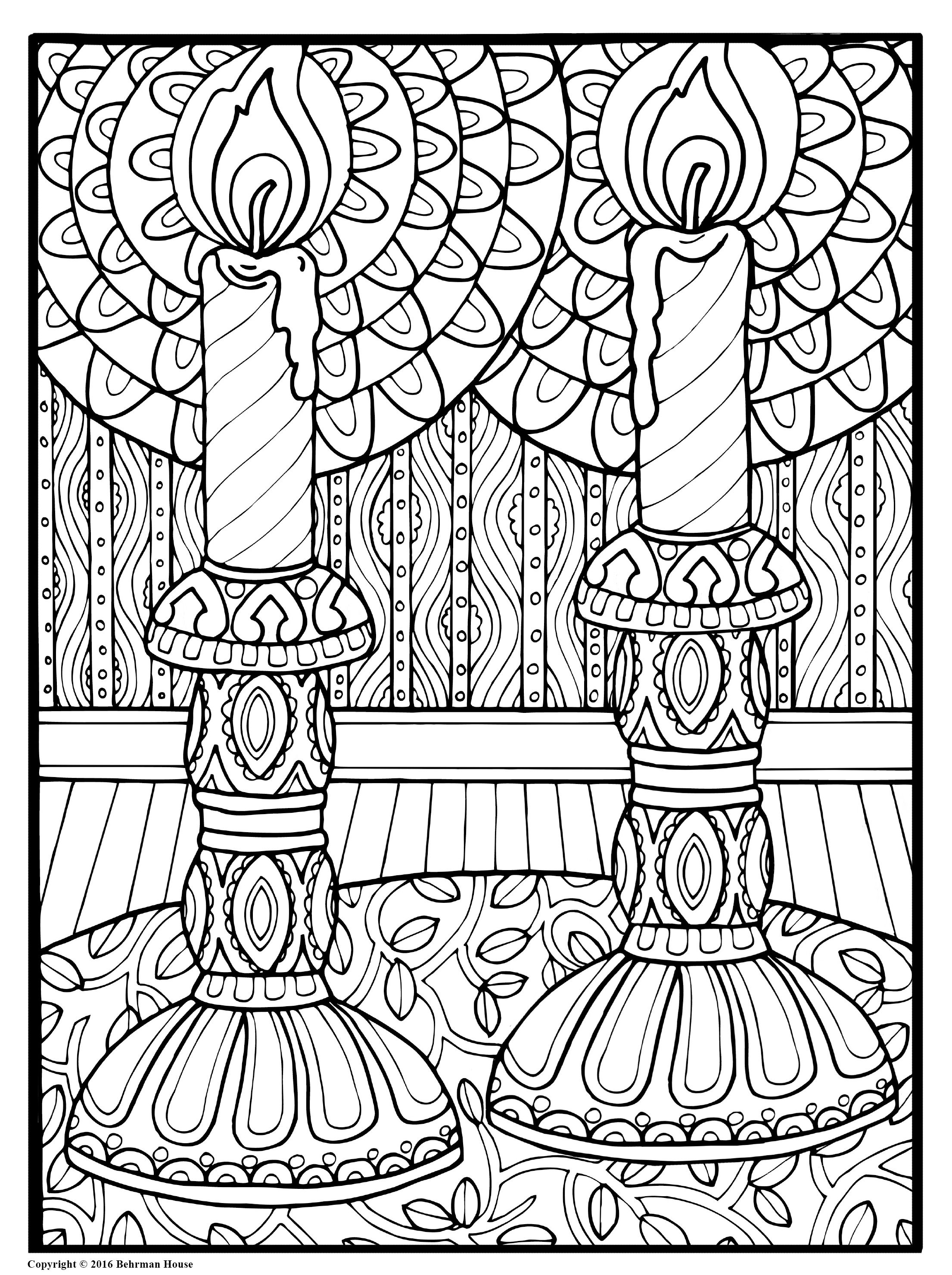 Beautiful Candles Shalom Coloring Book The New Alternative to