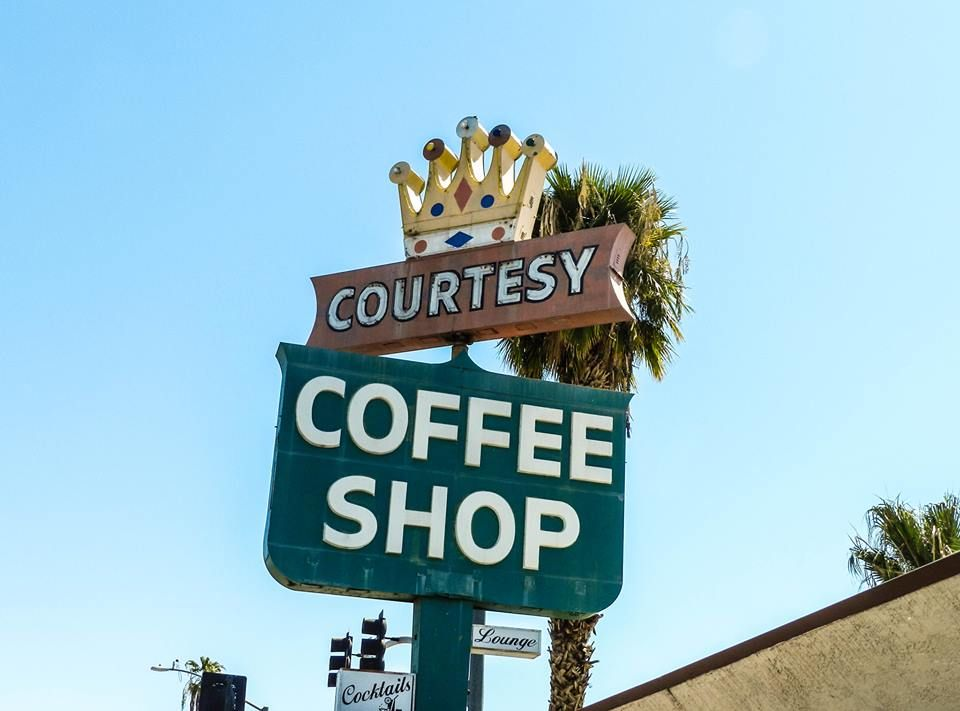 Courtesy coffee shop vintage neon signs old signs