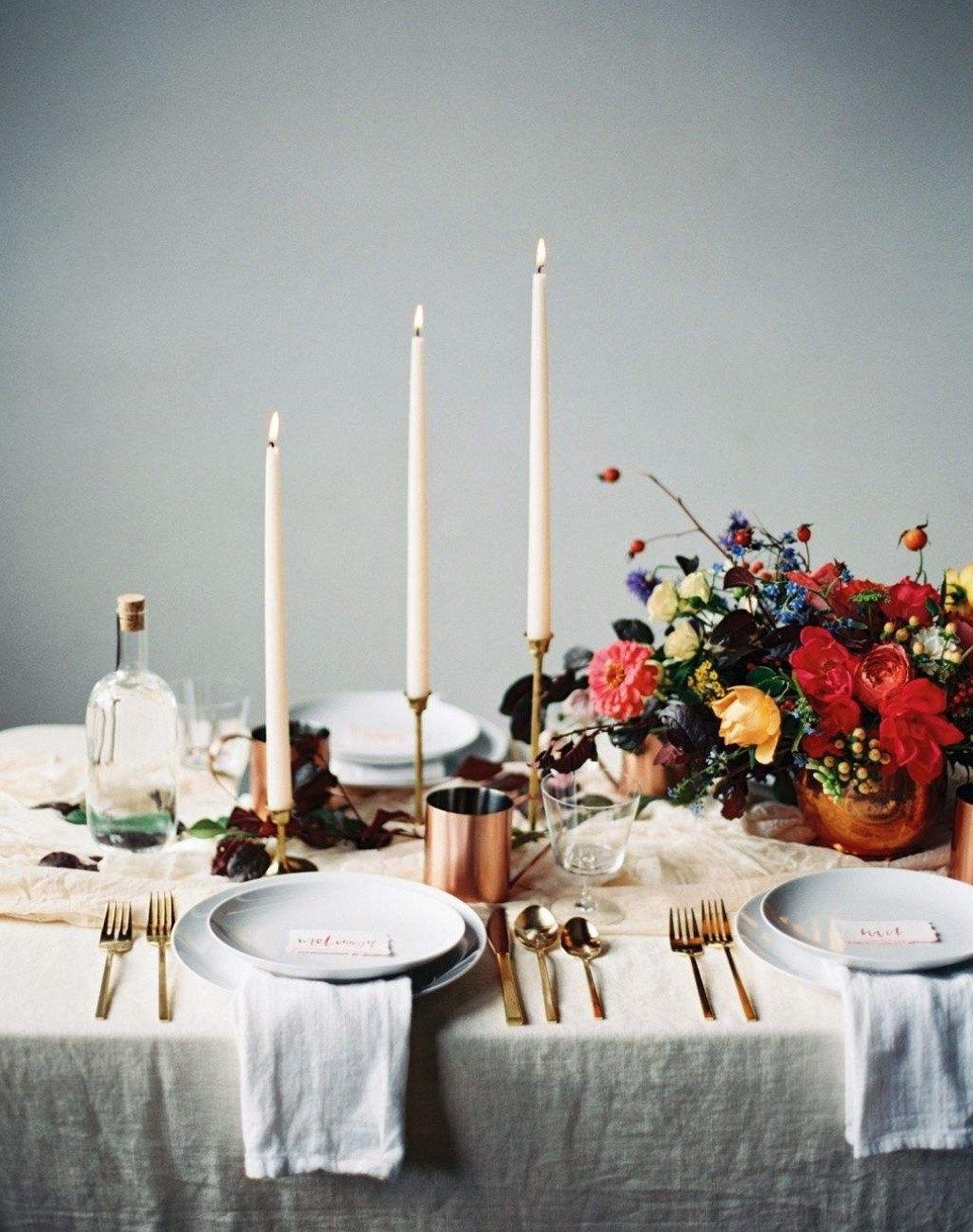 DINING, 5 Tips For A Romantic Dinner At Home | FLOWERS + PLANTS + ...