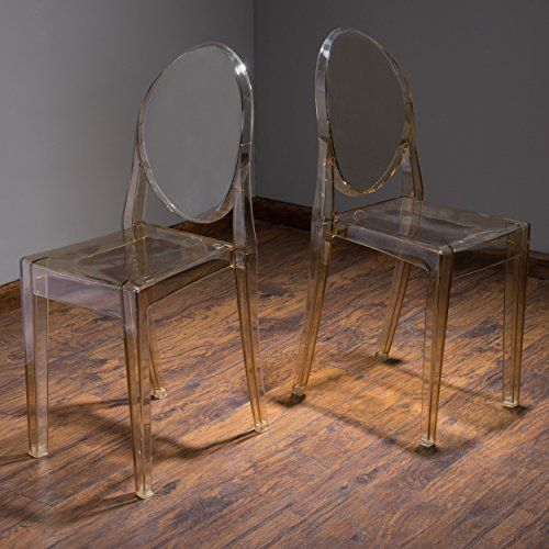 Best Cayden Transparent Amber Pc Ghost Accent Chairs Set Of 2 400 x 300