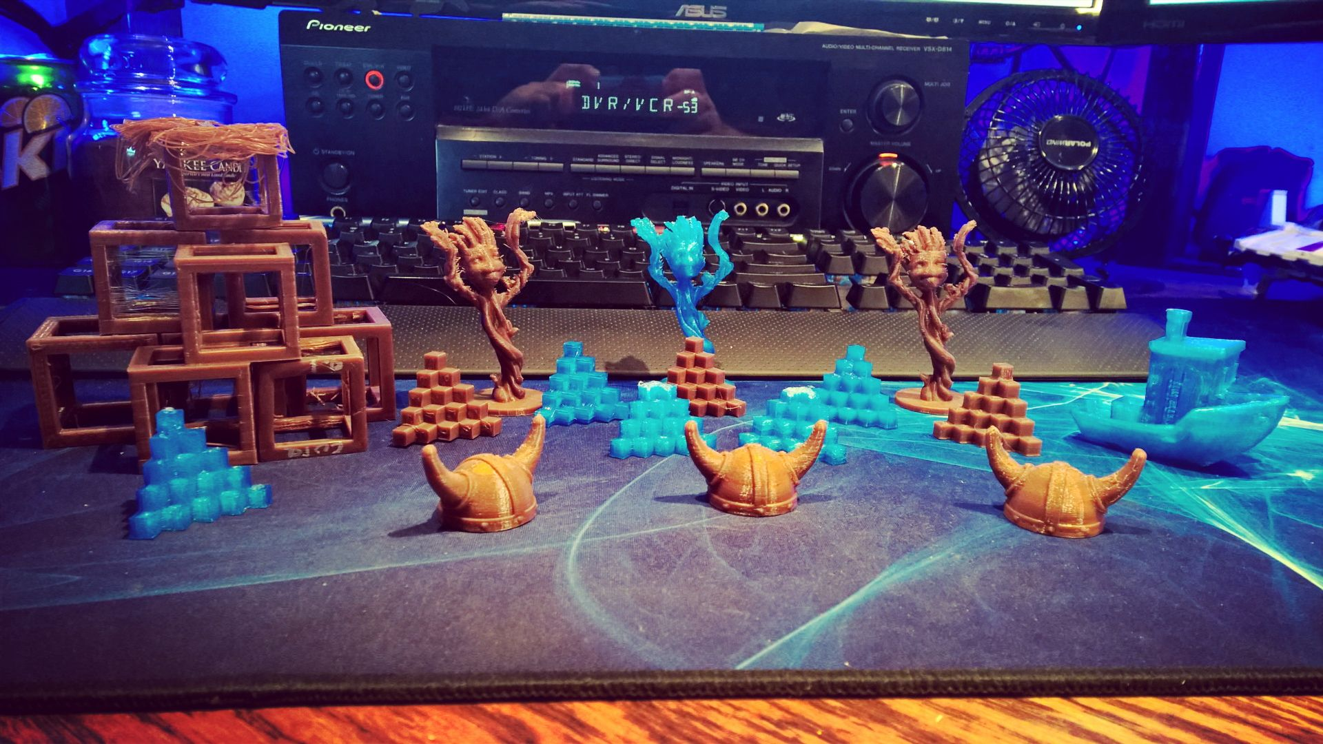 Something we liked from Instagram! In the process of getting the new #3Dprinter that I built fully calibrated and dialed in I've printed many a calibration piece... I got bored with just cubes and steps so I went on to mini Groots and Viking helmets... #3dprinting by lumberjackengineering check us out: http://bit.ly/1KyLetq