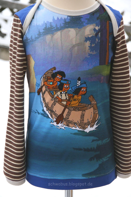 Yakari, das Baumwolljersey Panel Der kleine Indianer ist eine ...