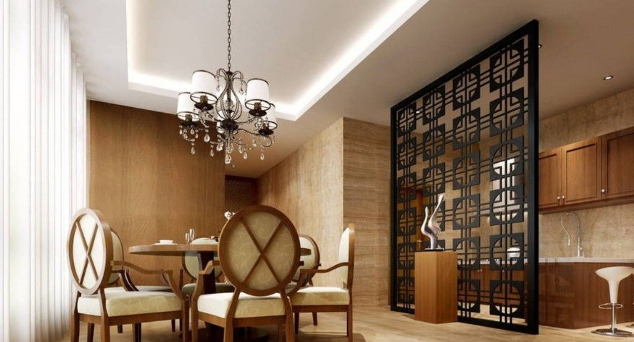 Kitchen Divider Design Ideas ~ Remarkable black wall partition with classiq design