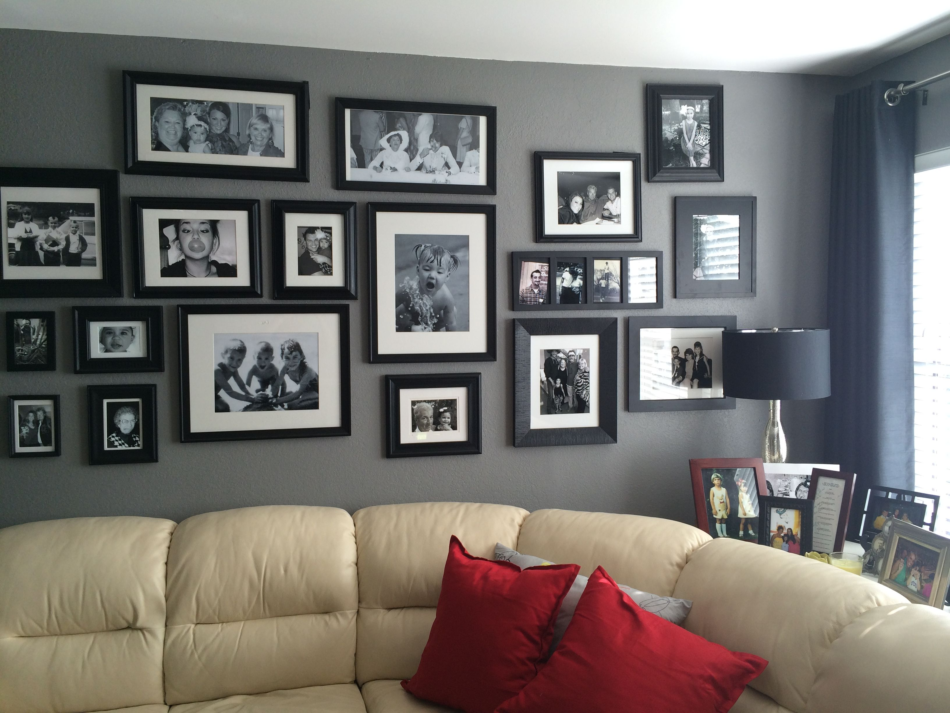 Old Family Pictures, All Black And White Frames Are Matte