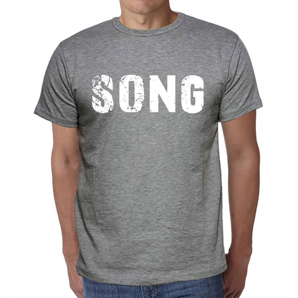 song, Men's Short Sleeve Rounded Neck T-shirt