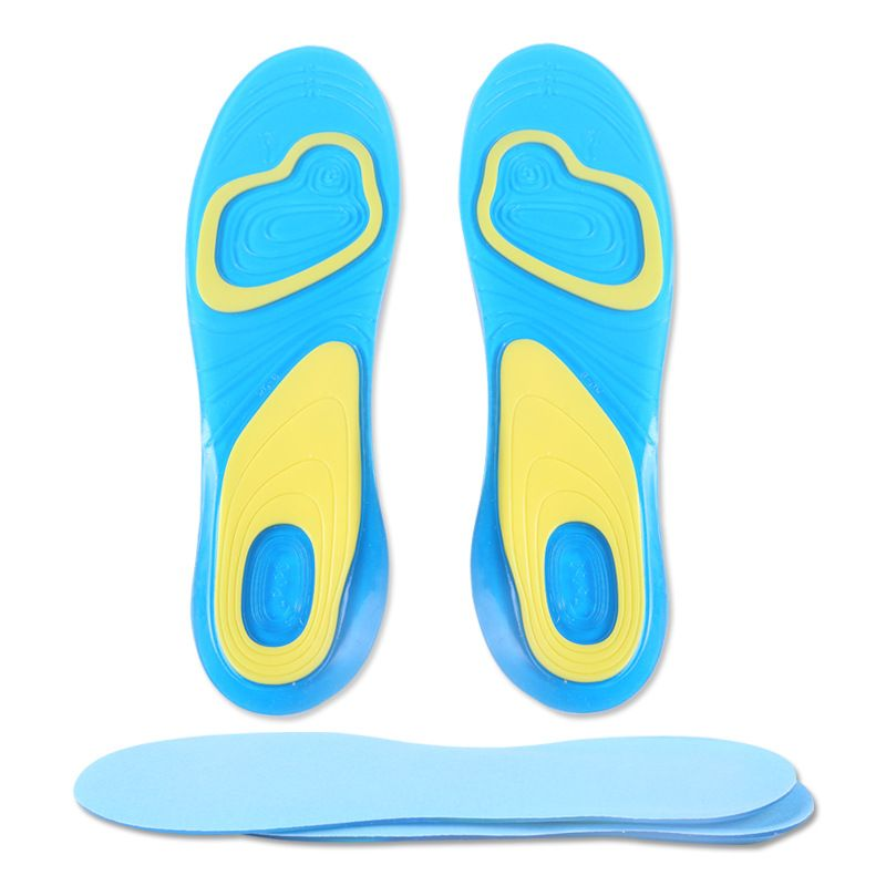Foot Care Women Men Silicone Gel Insoles Pads Orthotic Arch Support Shoe Pad