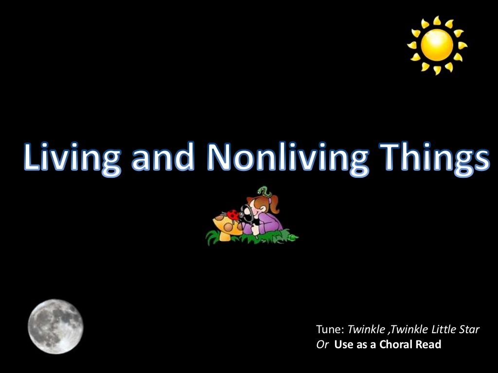 Living And Nonliving Song By Jcoron5 Via Slideshare With