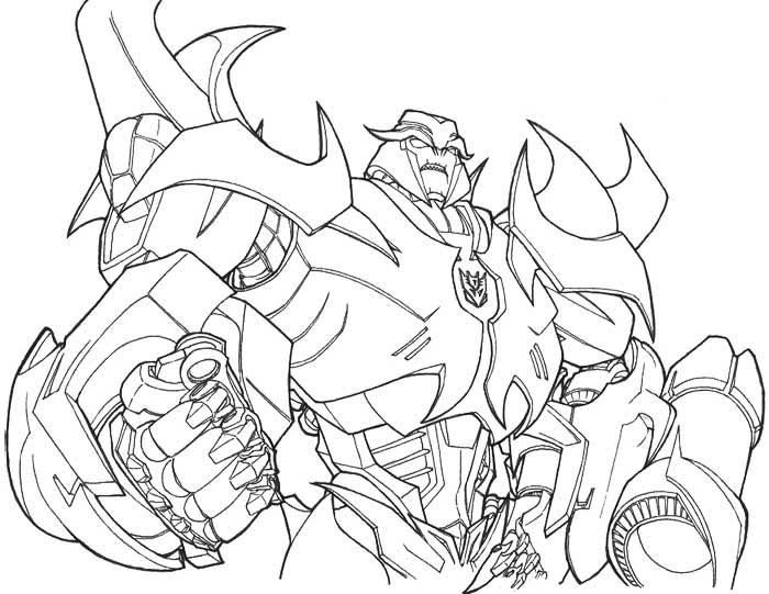 Colouring In Sheets Transformers : Megatron transformers prime coloring page transformers