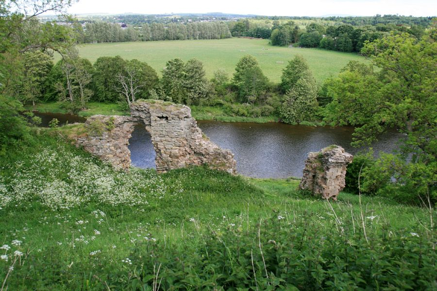 What S Left Of Roxburgh Castle Scotland In 1460 King James Ii