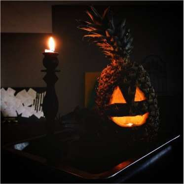 This nose-less pineapple lantern is too cute to handle. - Justina Huddleston