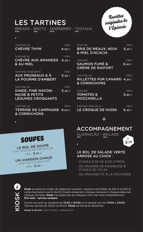 Art Of The Menu Kiosk Recette Carte Restaurant