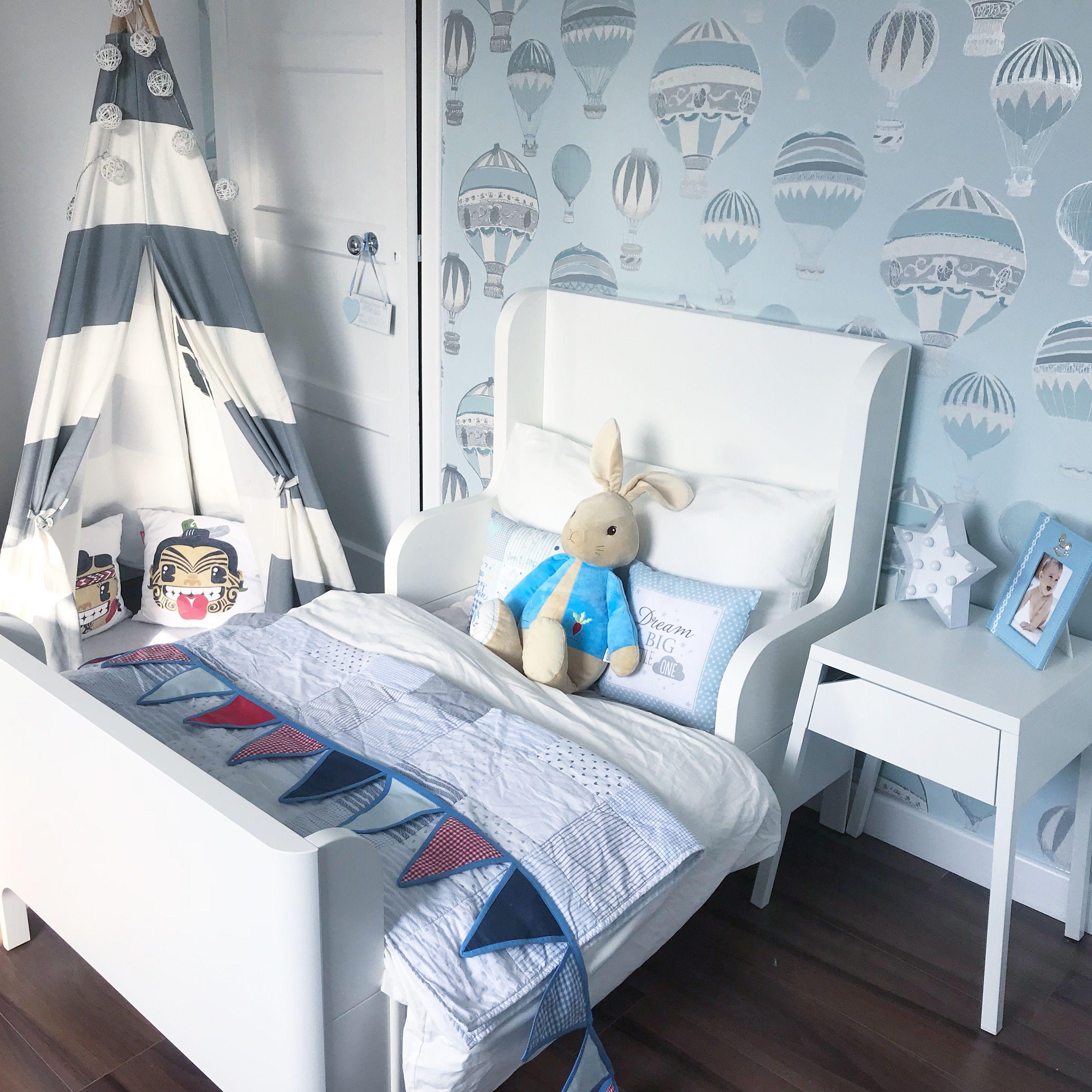 Ikea Busunge Bed and Selje side table   Ikea kids room ...