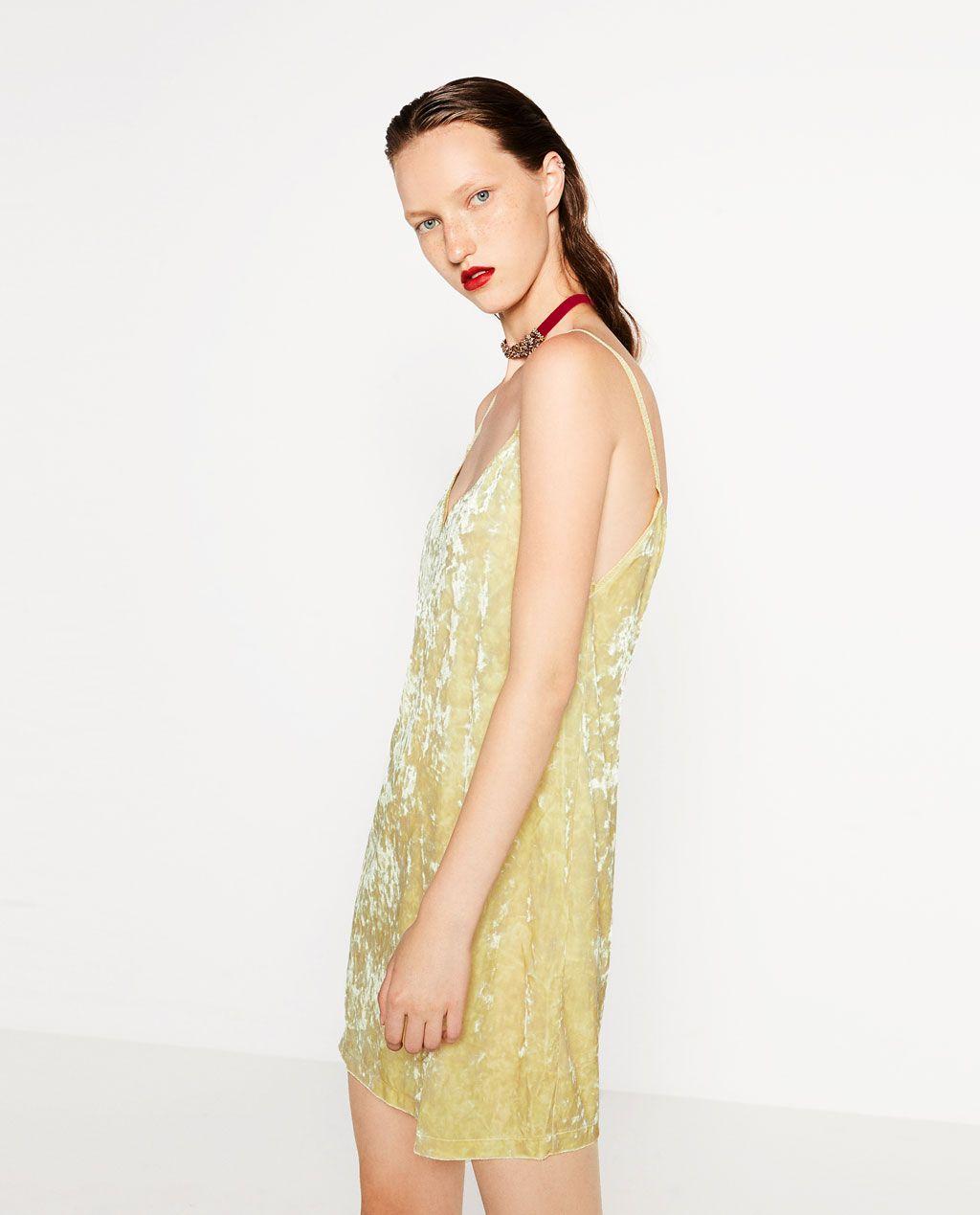 VELVET DRESS-DRESSES-WOMAN-COLLECTION AW16   ZARA Canada ...