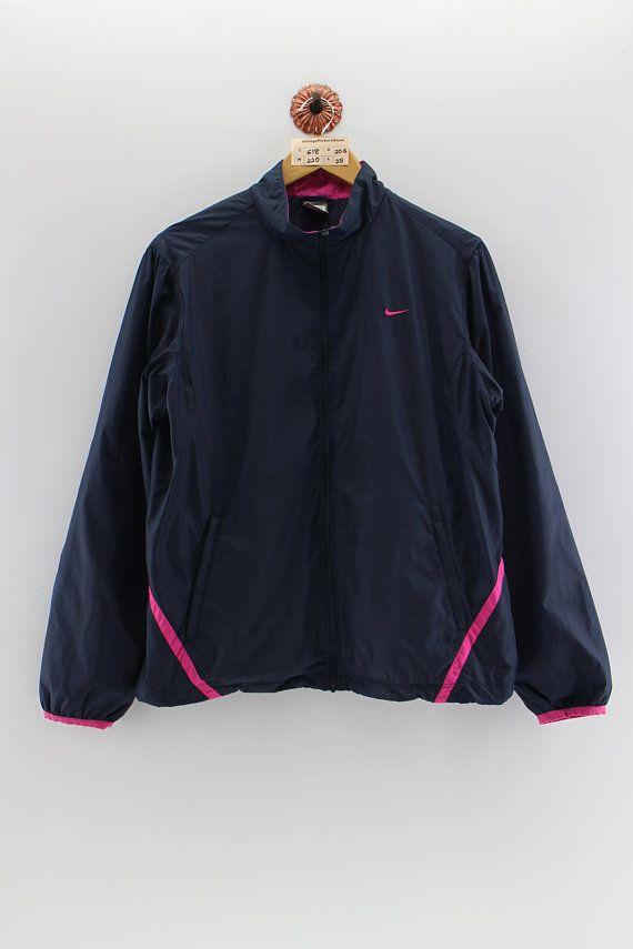 fe55db6aad Vintage 90s NIKE Sportswear Windbreaker Jacket Ladies Xlarge Nike Swoosh  Running Jacket Activewear Nike Outfit Trainer Jacket Ladies Size XL