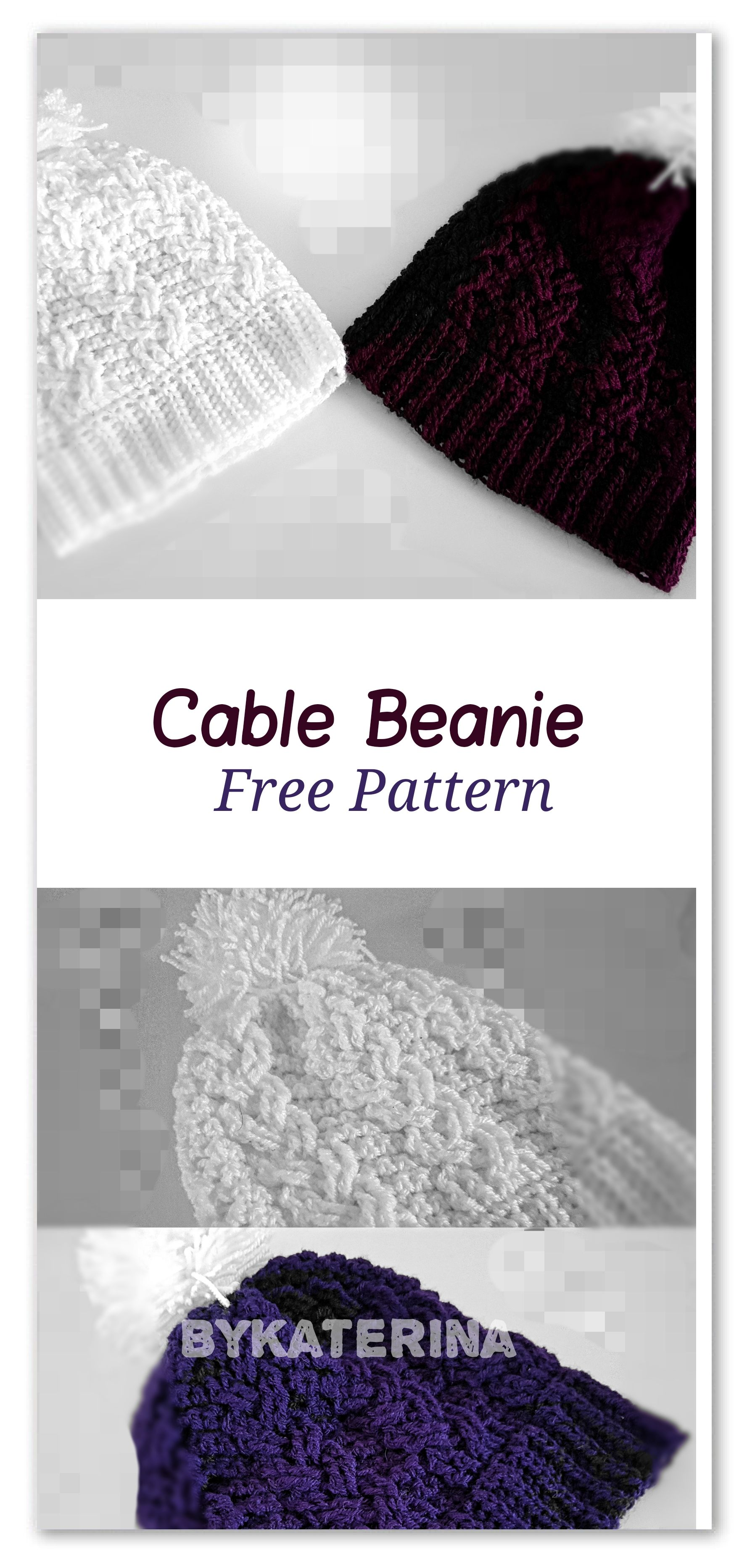Single plaited cable beanie | Hats/scarves | Pinterest | Gorros ...