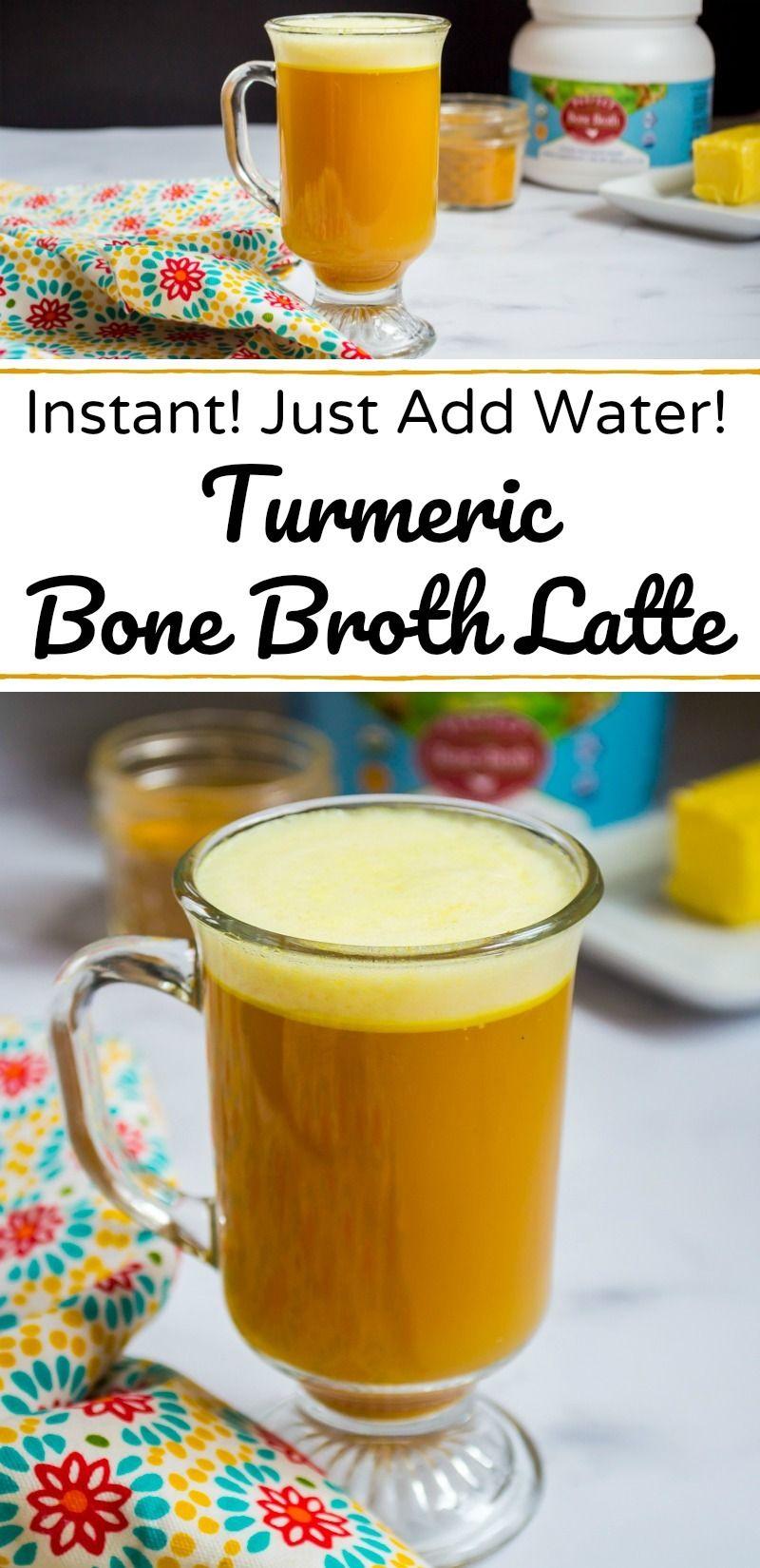 Instant Turmeric Bone Broth Latte Recipe Bone broth
