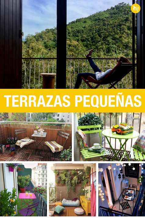 Ideas de decoración para terrazas pequeñas Pinterest