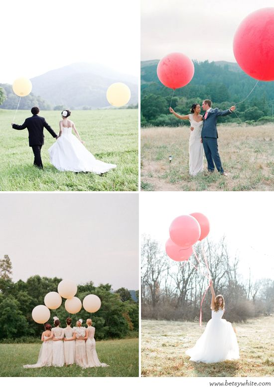 This is so fun! Over-sized Balloons make for wonderful photos!