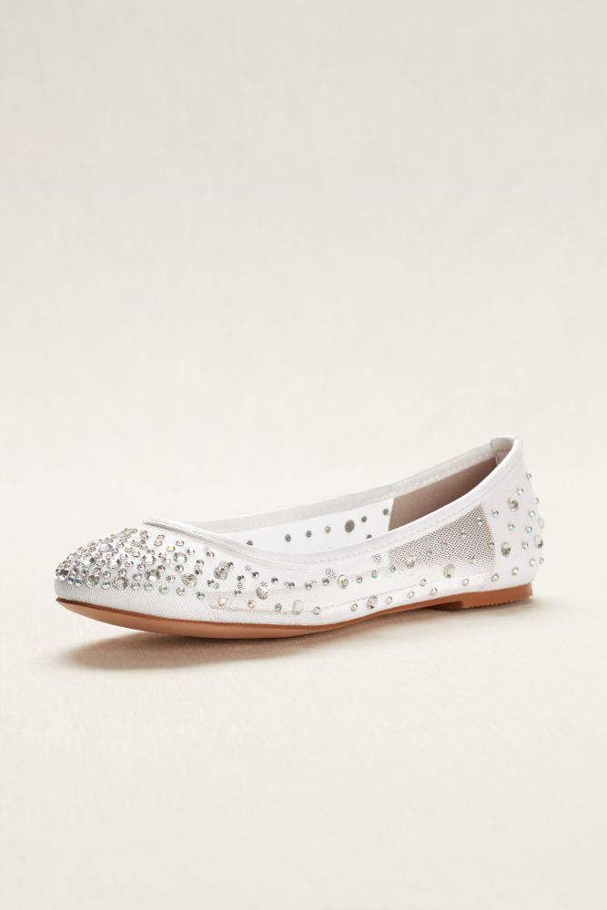 Ballet Flat with Scattered Crystal Accesnts Style ABABA31