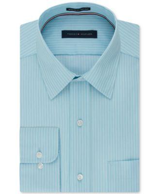 TOMMY HILFIGER Tommy Hilfiger Men'S Classic Fit Non-Iron Stripe Dress Shirt. #tommyhilfiger #cloth # dress shirts