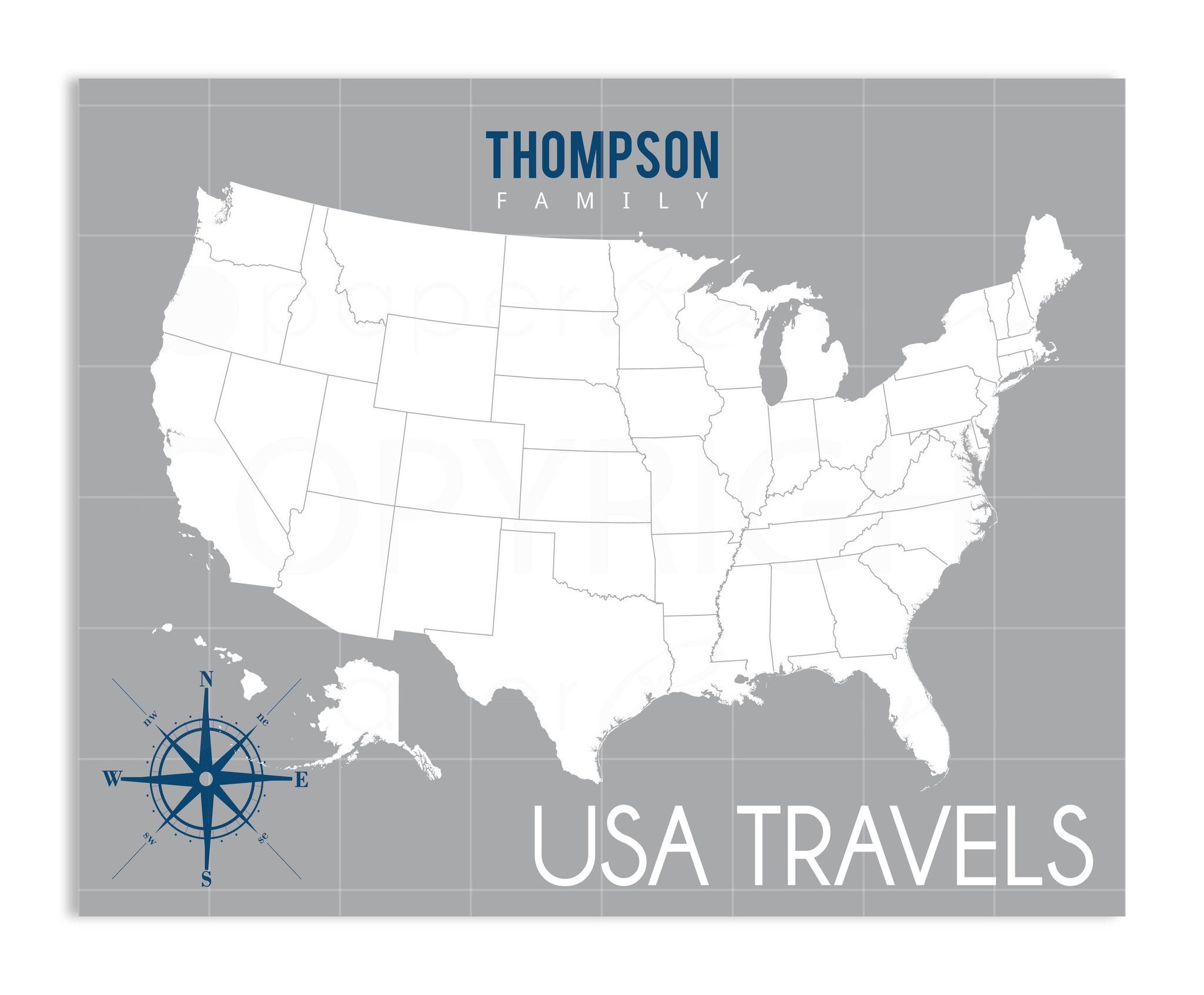 Traditional Interactive USA Family Map Products Pinterest - Interactive travel map of usa