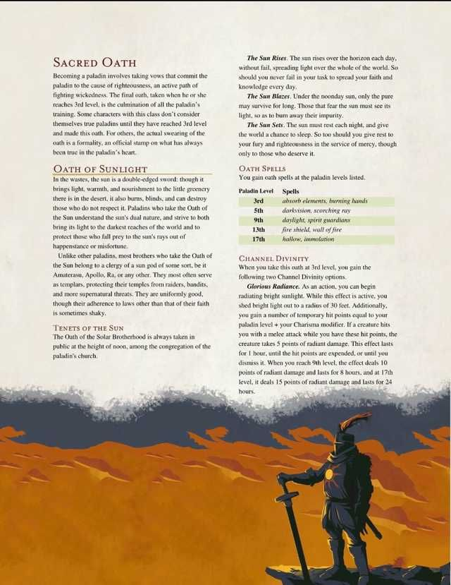 Power ranger and sun oath paladin for Dnd 5e in 2019 | Dnd 5e homebrew, Dnd paladin, Dungeons ...