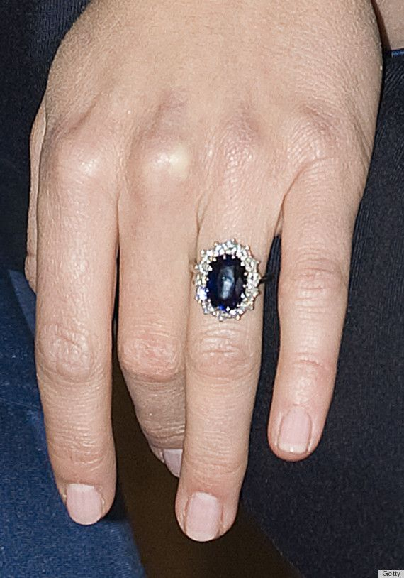Kate Middleton Ss Of Cambridge Ring And Pale Pink Polish