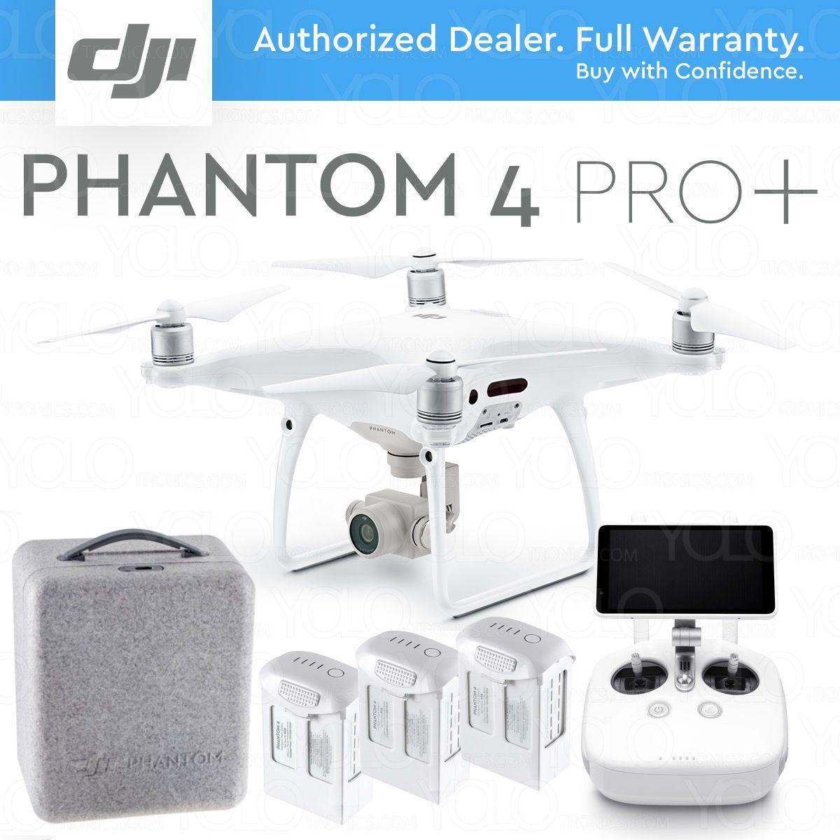 Dji Phantom 4 Pro Plus Drone W Gimbal Camera 1 Cmos 4k 20mp 5 5 Display Drone Camera Dji Cmos Sensor