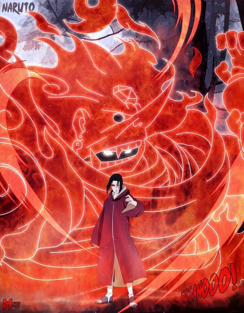 Itachi Susanoo Seni anime, Seni, Lukisan digital