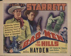 Poster badezimmer ~ Bad men original movie poster western movie and western movies
