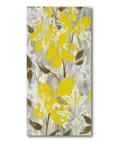 Take a look at this Gray Buttercup II Canvas Wall Art on zulily ...