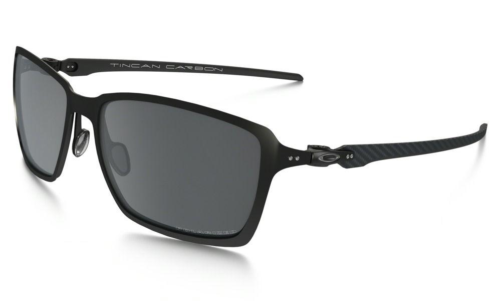 34db4d4fe7c Shop Oakley Tincan Carbon™ Polarized in SATIN BLACK   BLACK IRIDIUM  POLARIZED at the official Oakley online store.