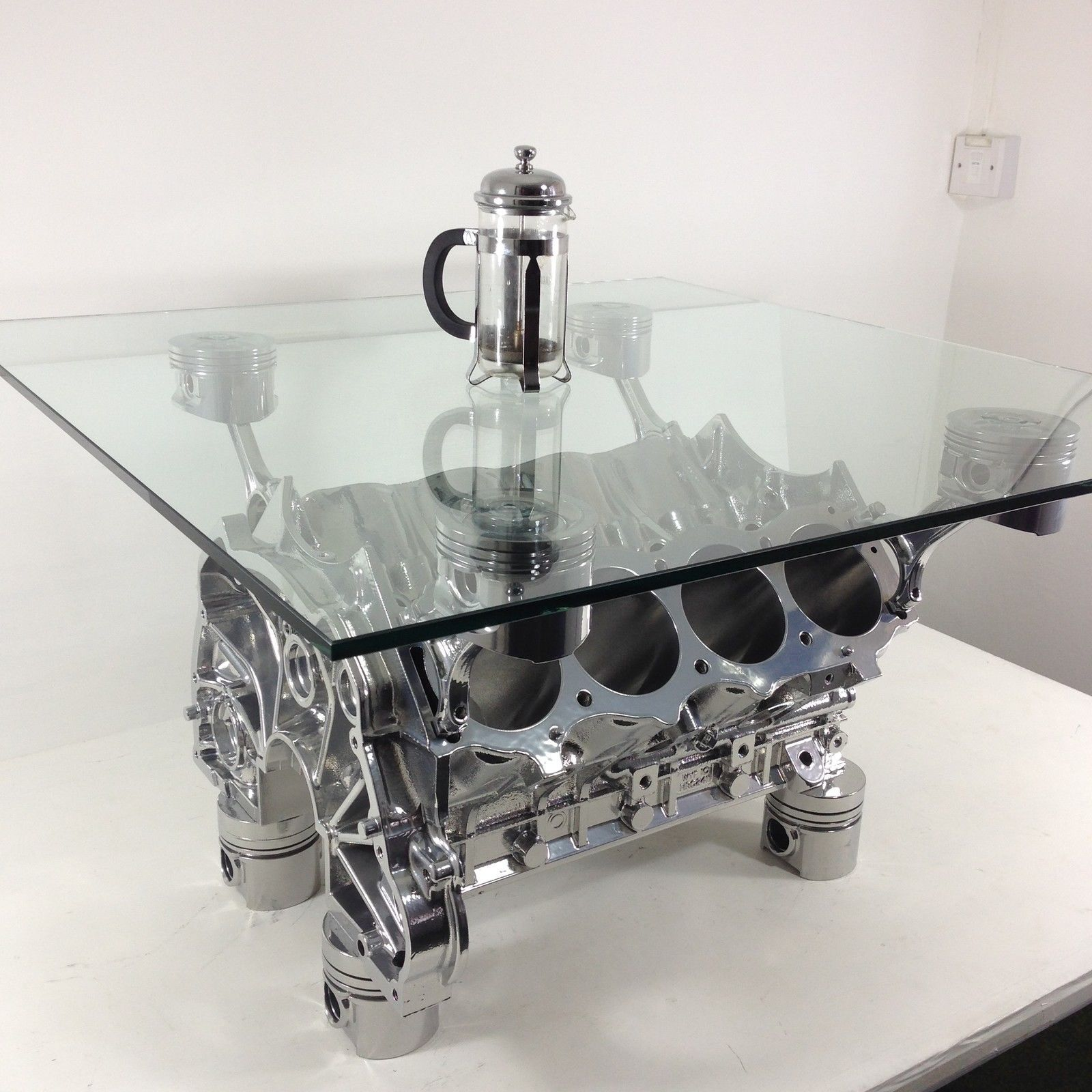 "Related Post ""Unique V8 Engine Block Coffee Table"""