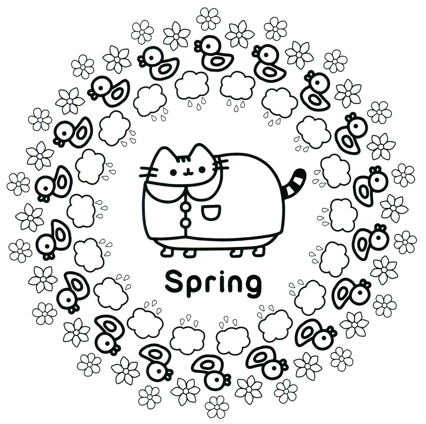 Pusheen Coloring Book Pusheen Pusheen the Cat | Color my world ...