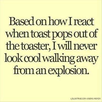 HSP, easily startled! Hahaha! That's why I have a toaster oven.