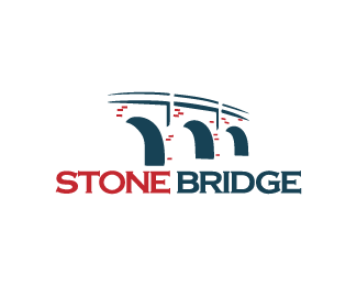 Stone Bridge Logo Design Bridge Logo Structure Made From Stones And Bricks And Seen In An Abstract Shape Price 290 00 Bridge Logo Logo Design Bridge Icon