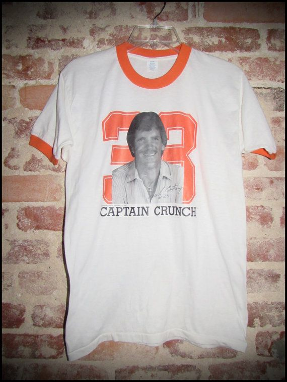14eb391d9 Vintage 80 s NFL Tampa Bay Buccaneers Mark Cotney Captain Crunch Ringer Tee  Shirt - Size Large by RackRaidersVintage