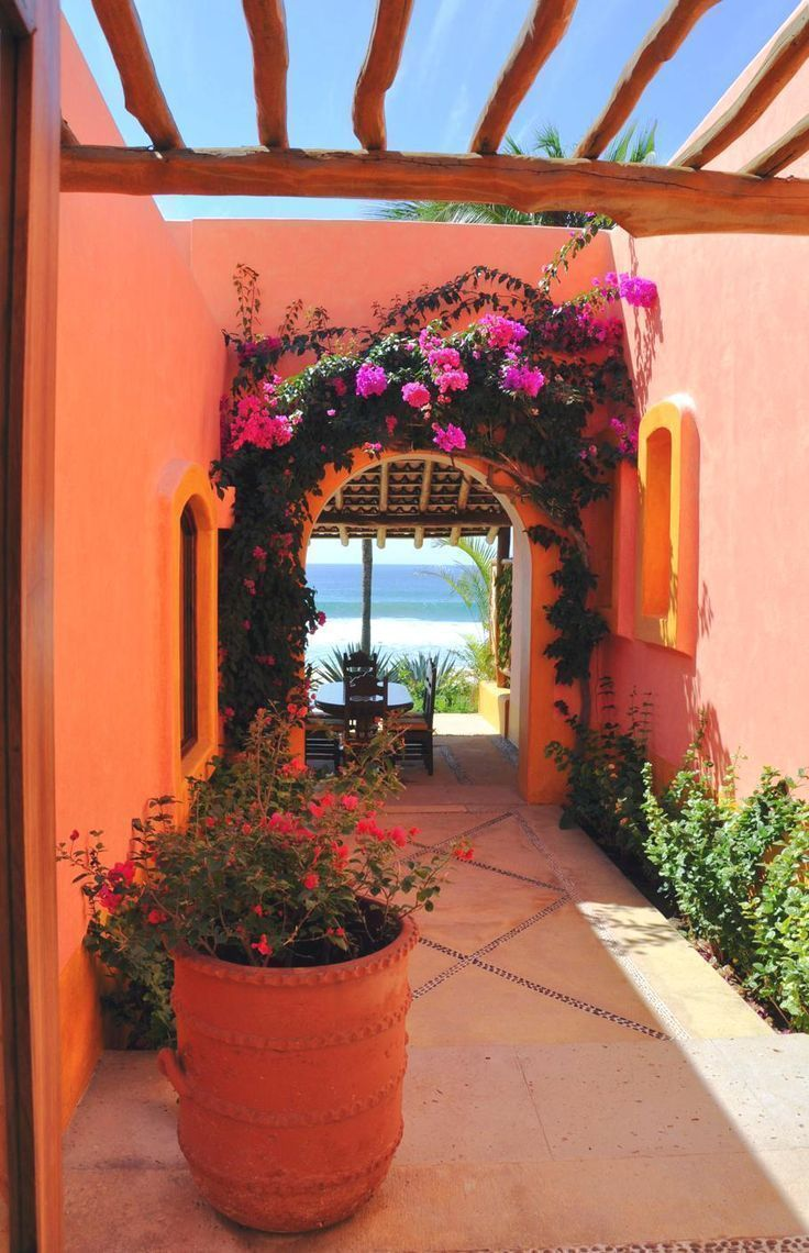 Resultado de imagen para imagenes fachadas casas colores for Imagenes de fachadas de casas rusticas mexicanas