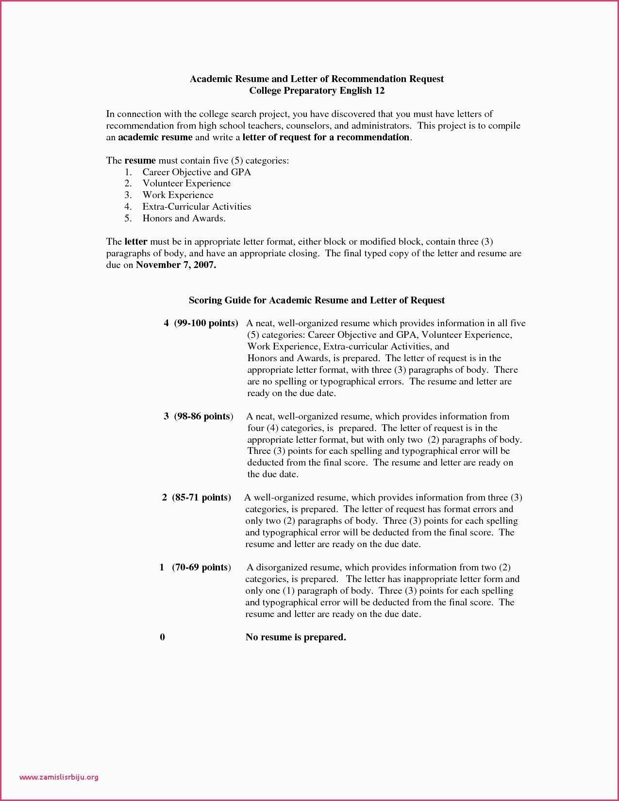 letters of recommendation for resume