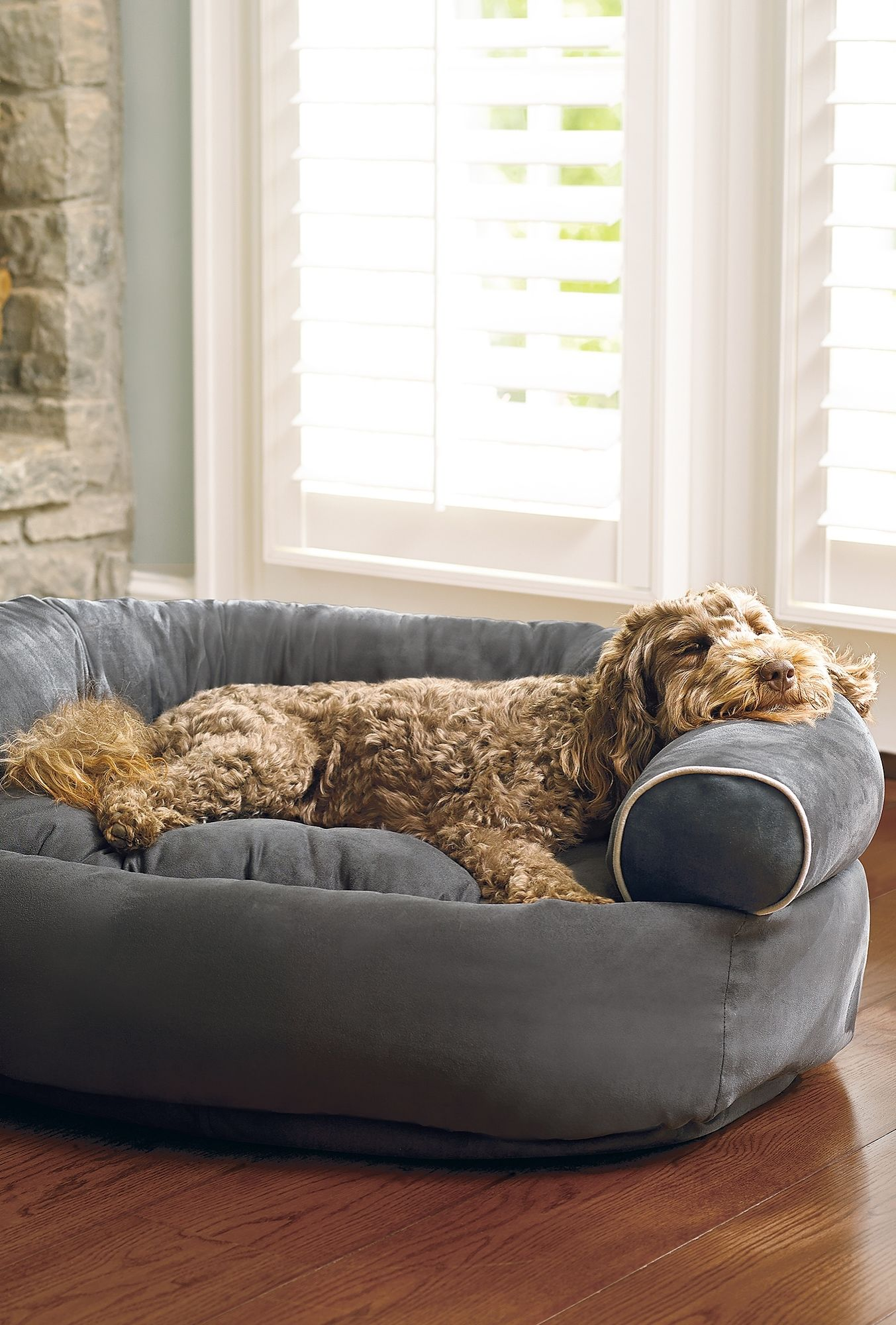 Double your pet's comfort with the tufted, orthopedic ...