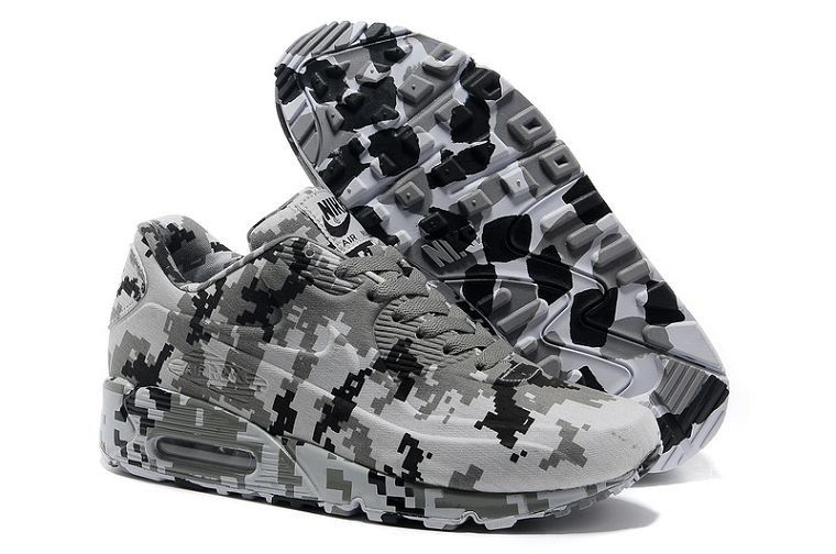 buy popular 2db70 e7d52 Nike Air Max 90 VT Femme Pas Cher Camouflage Blanc