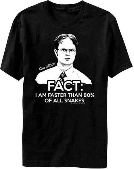 Dwight Schrute Fact T-Shirt The Office Fan Inspired TV Show Dunder Mifflin Paper