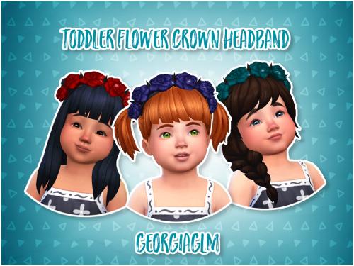Sims 4 Toddler Flower Crown Headband Georgiaglm Cas