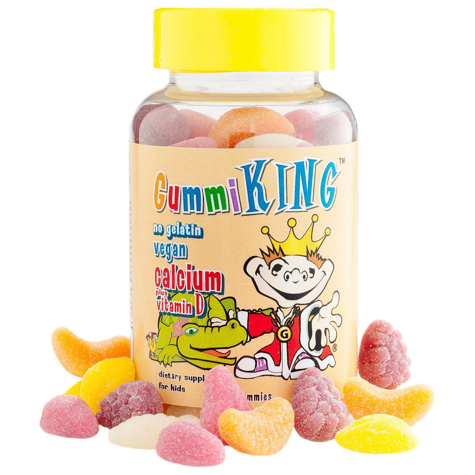 Gummi King Calcium Plus Vitamin D For Kids 60 Gummies
