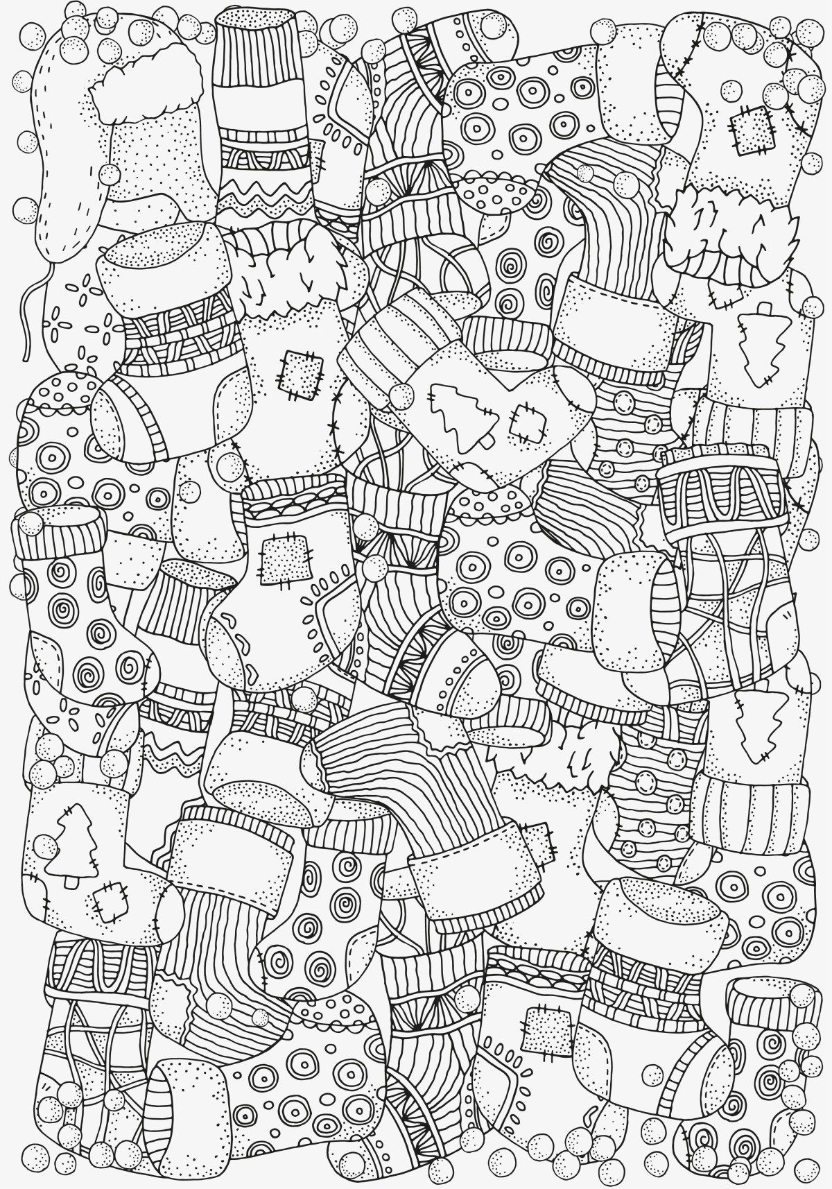 5 Absolutely Free Beautiful Christmas Colouring Pages | Stockings ...