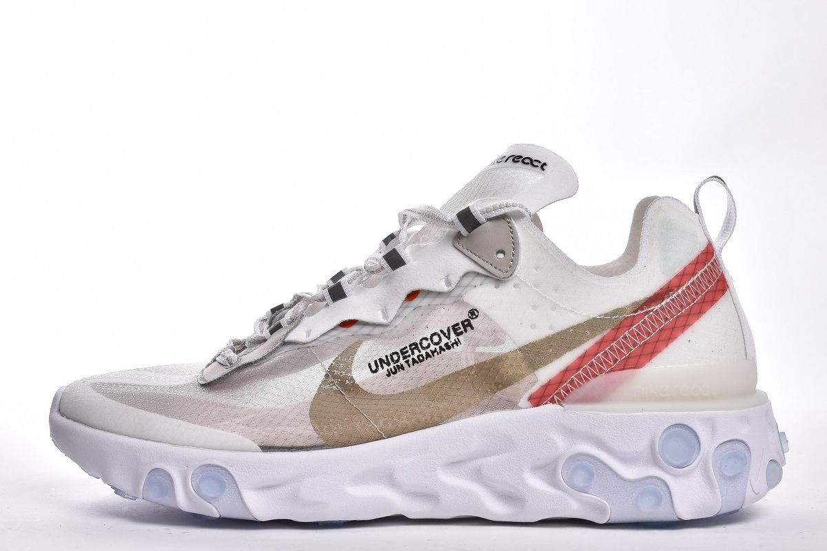 UNDERCOVER x NIKE EPIC REACT ELEMENT 87 AQ1813 339 WHITE RED SHOES1 ... beed5c6899