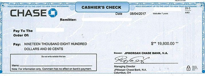 how to cancel a cashiers check chase