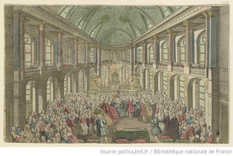 Mariage of Louis and Marie-Antoinette 16 may 1770 in the chapel of  Versailles. | Marie antoinette, Versailles, Chapelle